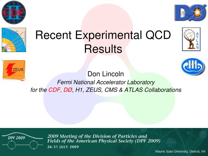 recent experimental qcd results n.