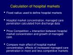 calculation of hospital markets
