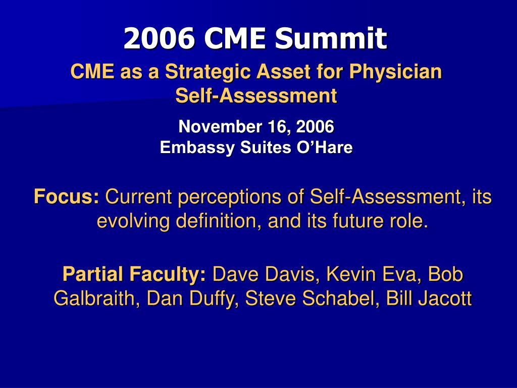 2006 CME Summit