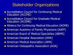 stakeholder organizations