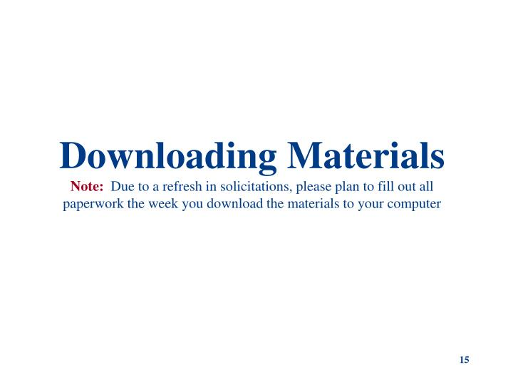 Downloading Materials
