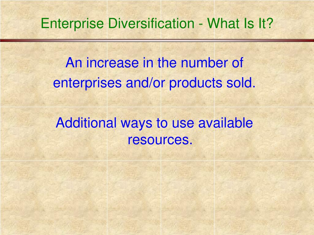 Enterprise Diversification - What Is It?