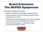 brand extension the mufes symposium
