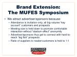 brand extension the mufes symposium7