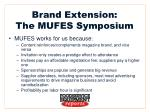 brand extension the mufes symposium8