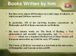 books written by him