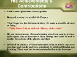 his achievements contributions1