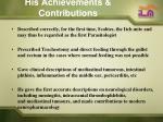 his achievements contributions5