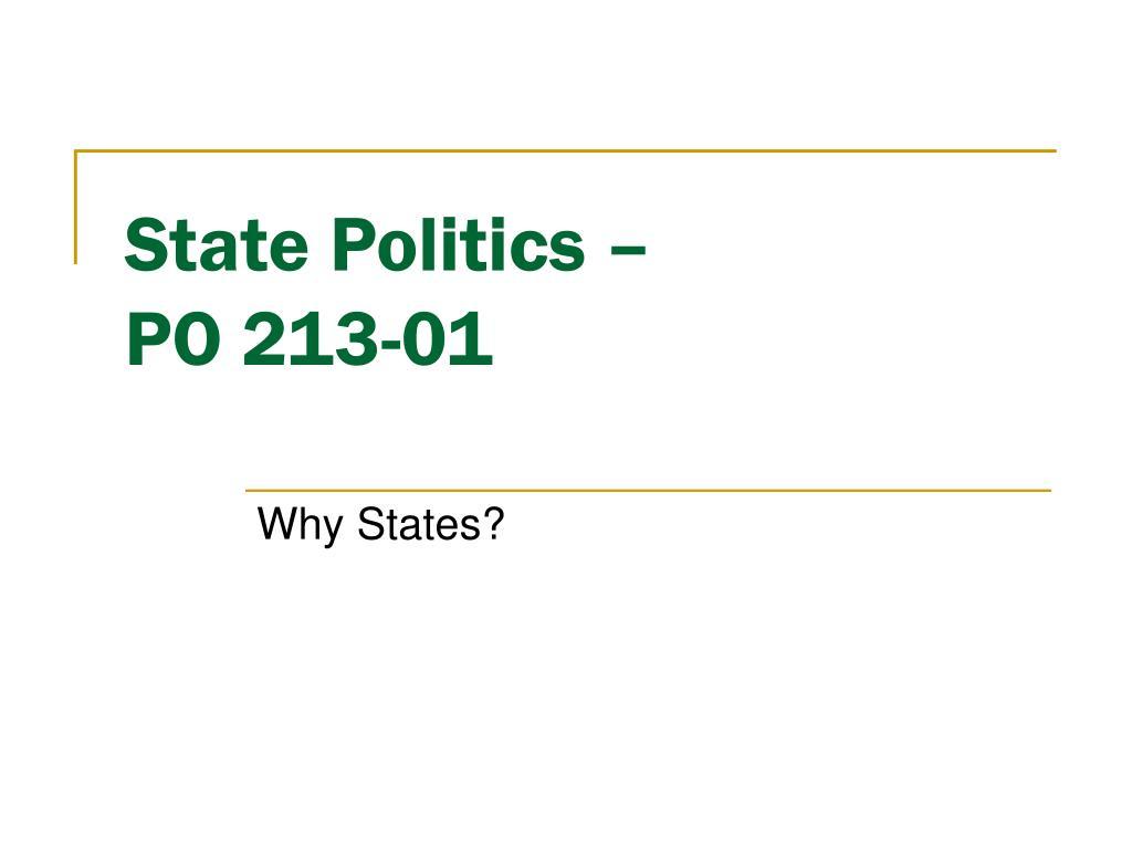 state politics po 213 01 l.