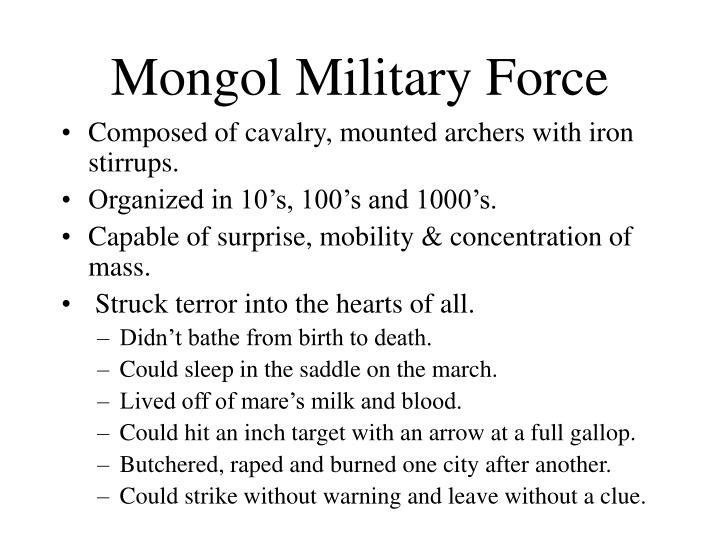 Mongol Military Force