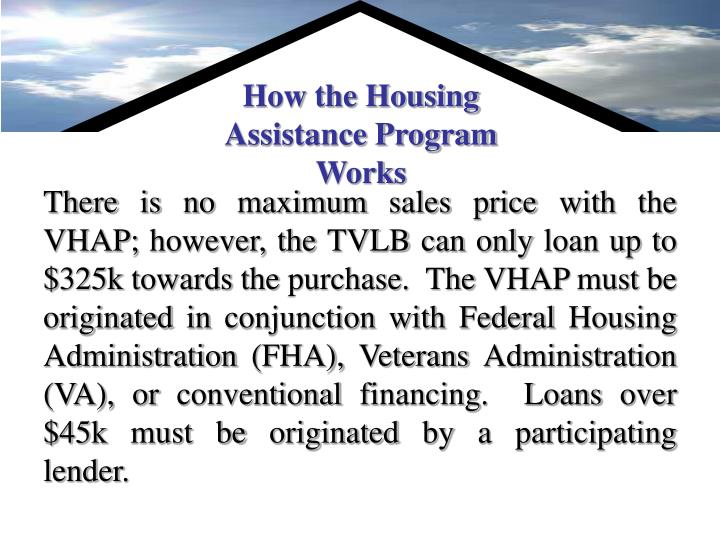 How the Housing Assistance Program Works