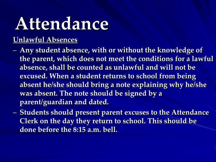 Unlawful Absences