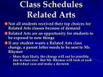 class schedules related arts1