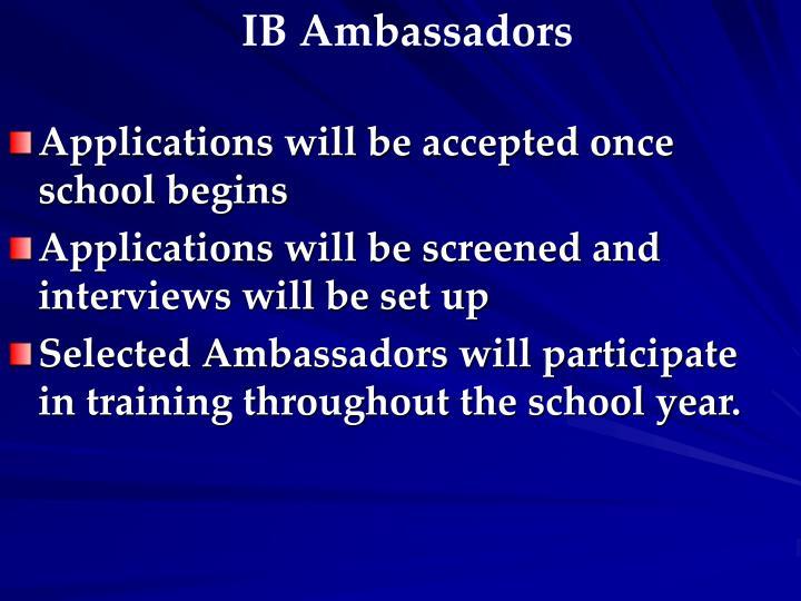 IB Ambassadors