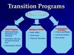 transition programs