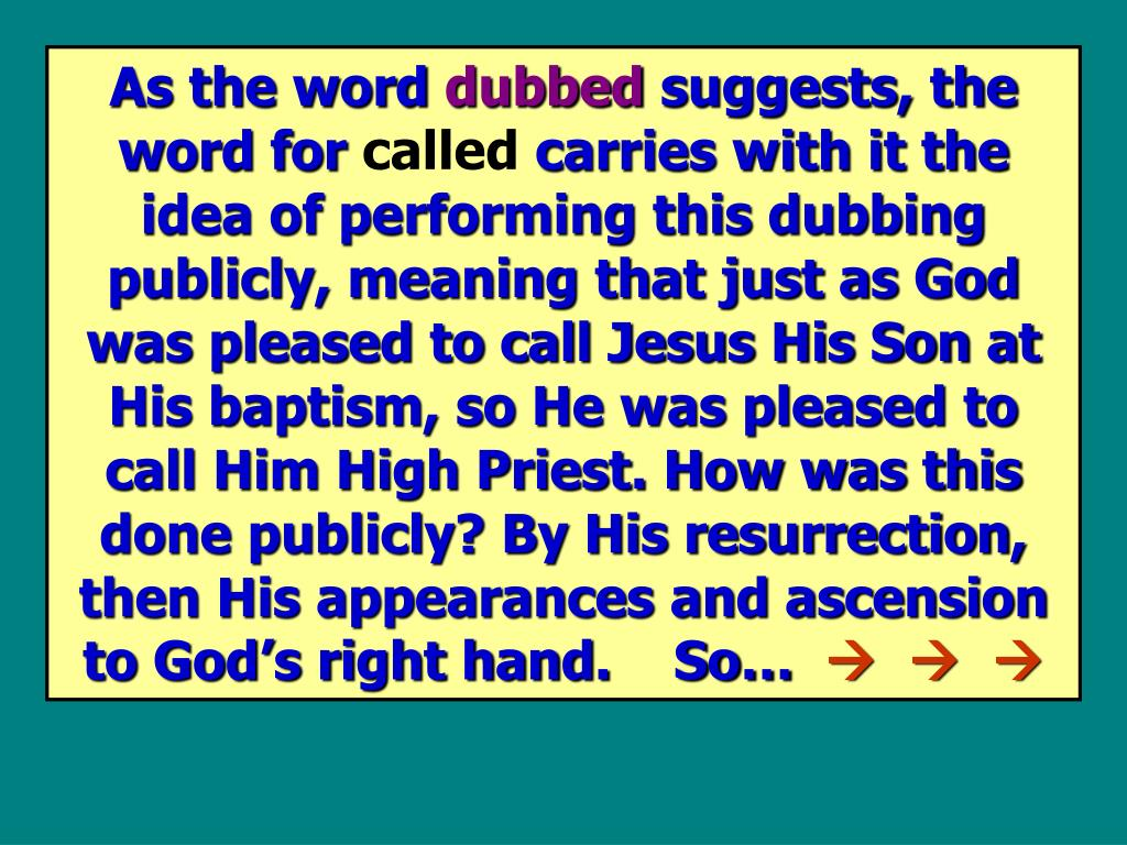 As the word