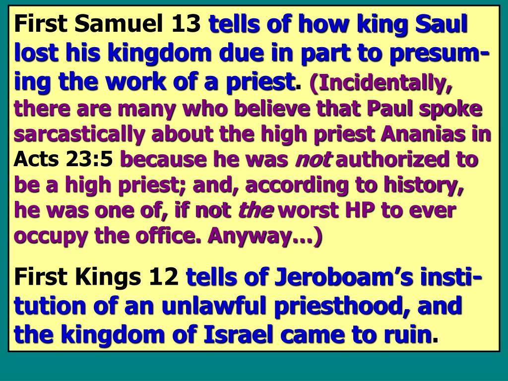 First Samuel 13