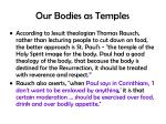 our bodies as temples