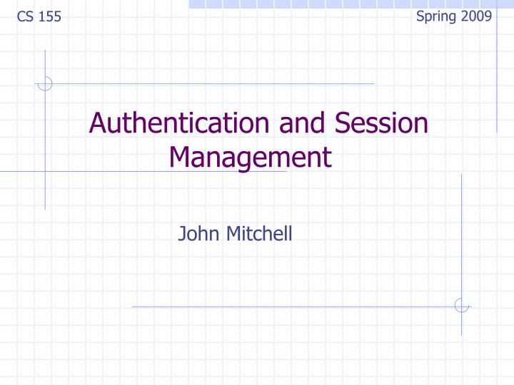 authentication and session management n.