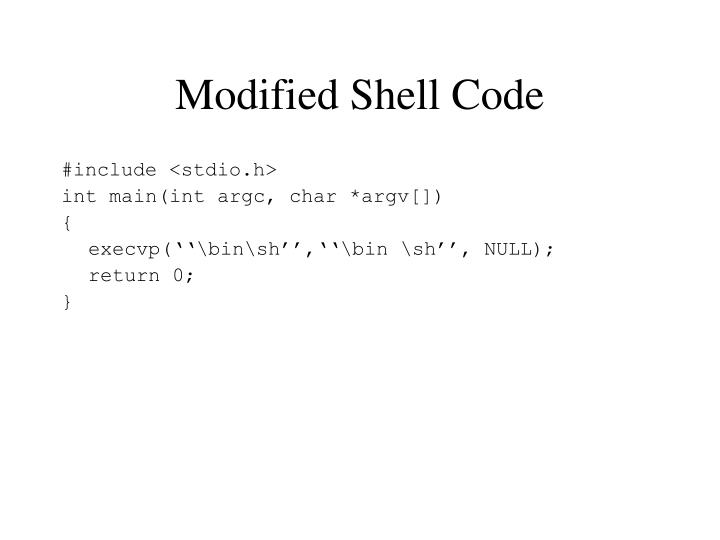 Modified Shell Code