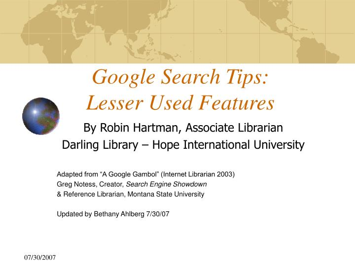 google search tips lesser used features n.
