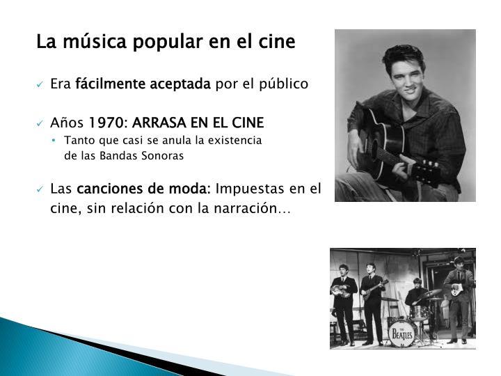 La música popular en el cine