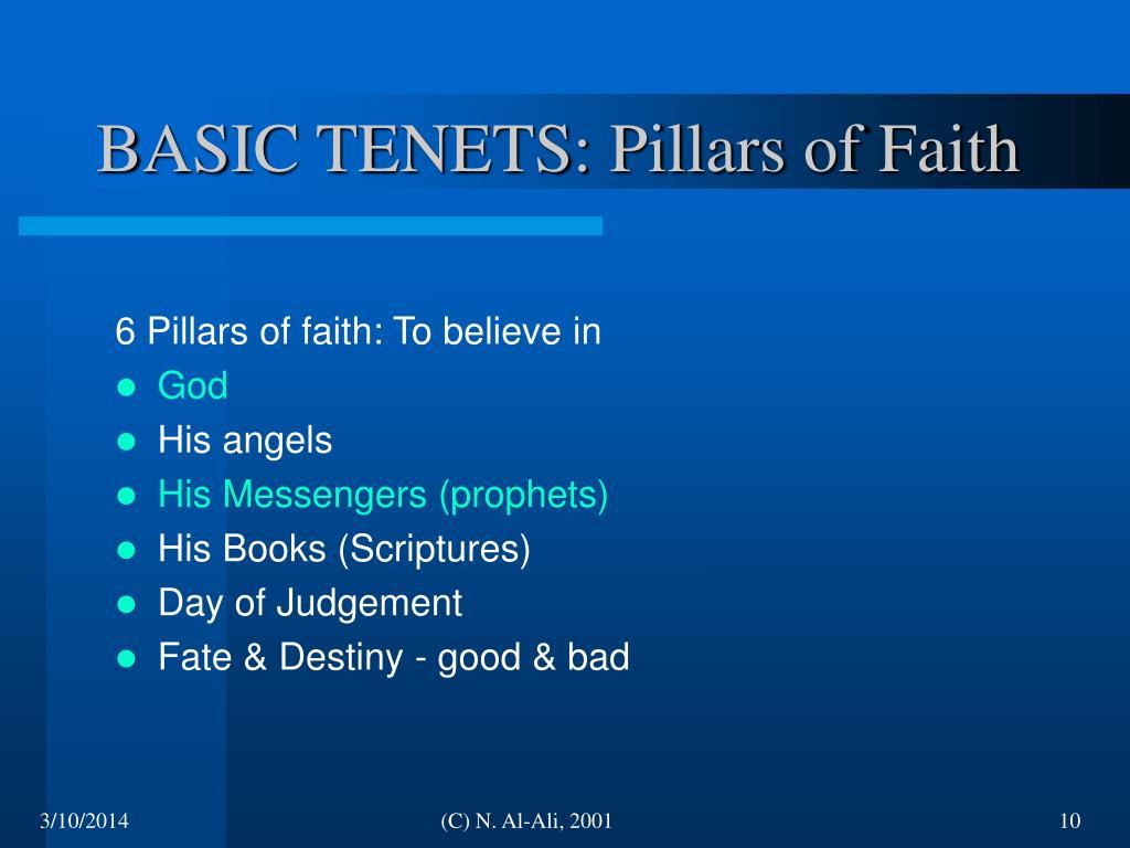 BASIC TENETS: Pillars of Faith
