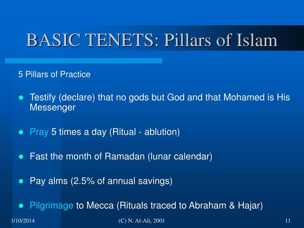 BASIC TENETS: Pillars of Islam