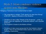 myth 2 islam condones violence against non muslims23