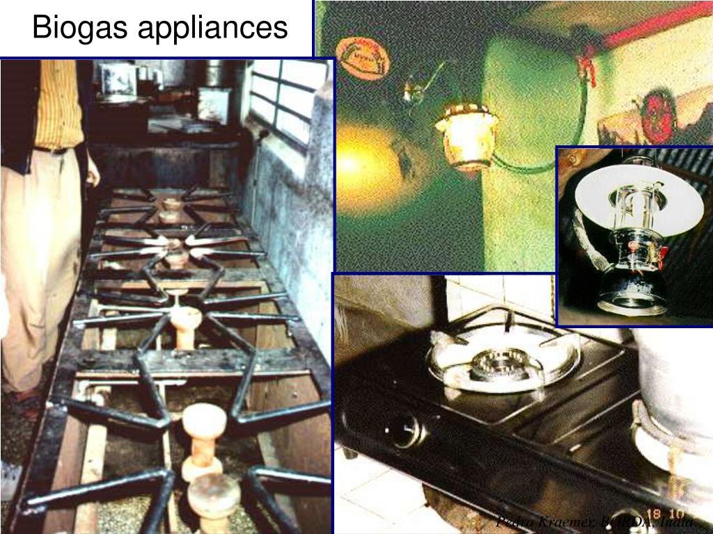 Biogas appliances
