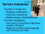 service industries1