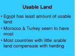 usable land