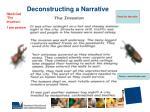 deconstructing a narrative