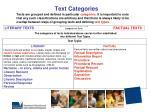 text categories