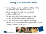 writing in the multimodal world
