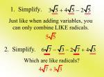 1 simplify