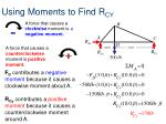 using moments to find r cy
