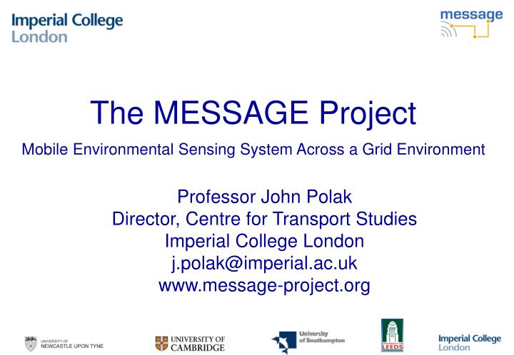 the message project mobile environmental sensing system across a grid environment n.