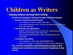 children as writers