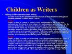 children as writers1