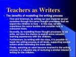teachers as writers1