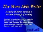 the more able writer2