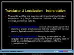 translation localization interpretation