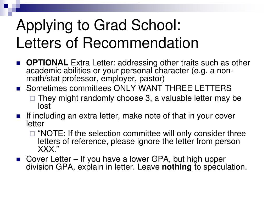 Applying to Grad School:
