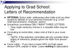 applying to grad school letters of recommendation20
