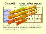 cambodia value timber exports le billon 2000