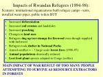 impacts of rwandan refugees 1994 98