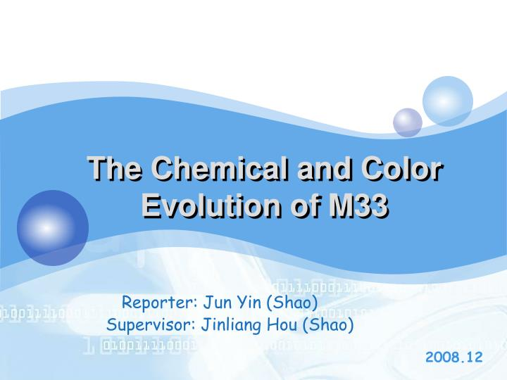 the chemical and color evolution of m33 n.