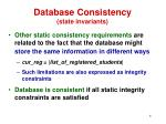 database consistency state invariants