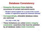 database consistency